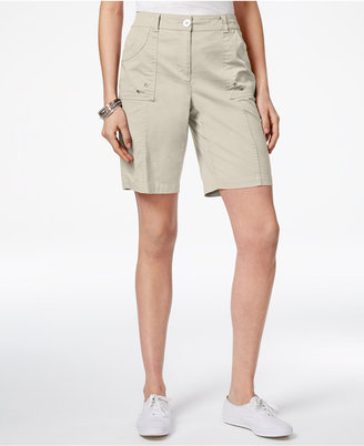 Karen Scott Curved-Pocket Shorts, Created for Macy's $39.50 thestylecure.com