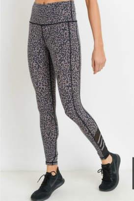 Mono B Highwaist Leopard Print Mesh Leggings