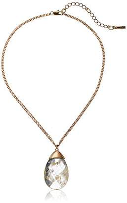 Kenneth Cole New York Women's Gold Tone Station Pendant Necklace