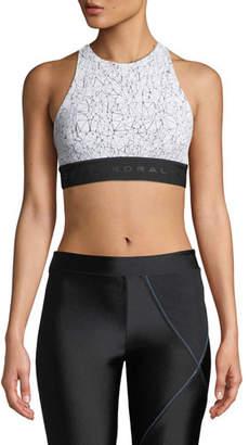Koral Activewear Molecular Del Ray Printed T-Back Sports Bra