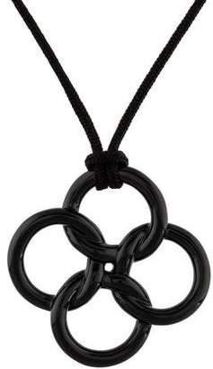 Tiffany & Co. Jade Quatrefoil Pendant Necklace