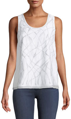 Nic+Zoe White Sands Embroidered Tank Top