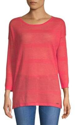Calvin Klein Sheer Roundneck Sweater