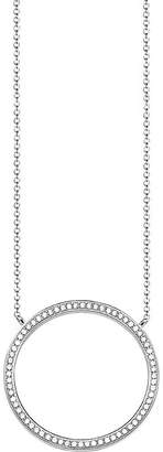 Thomas Sabo Classic circle large sterling silver and zirconia necklace