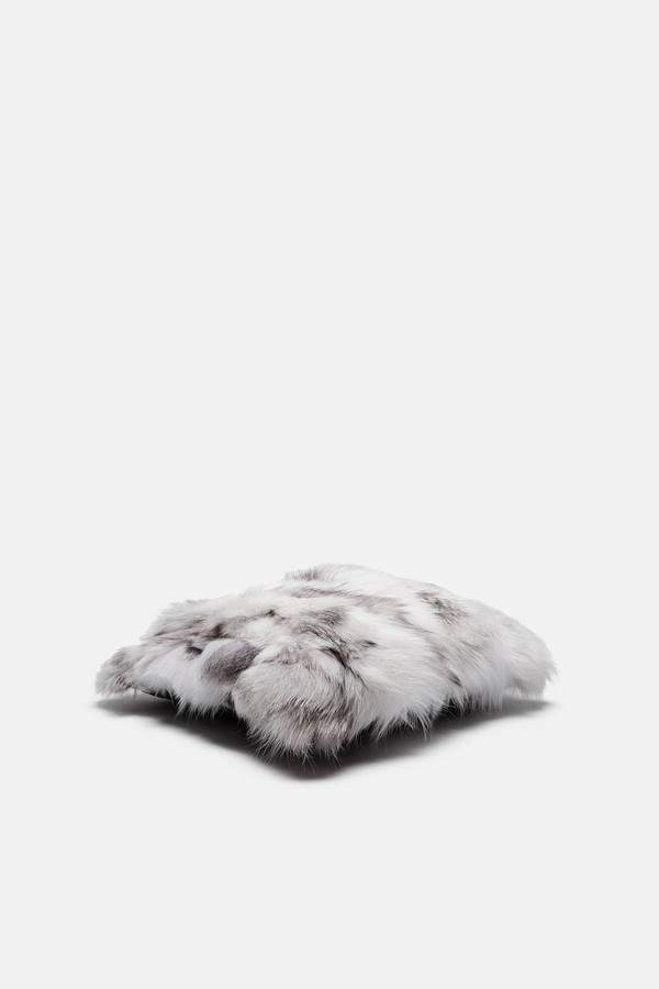 Tenfold New York Tenfold New York White Patched Fox Fur Pillow