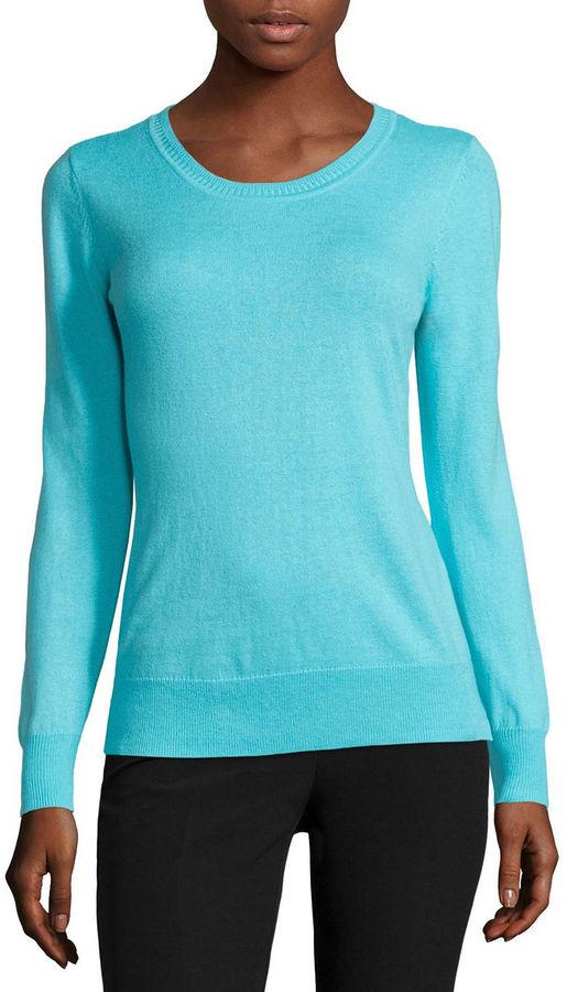 WORTHINGTON Worthington Long-Sleeve Essential Crewneck Sweater