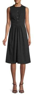 Rebecca Taylor Sleeveless Poplin Wrap Dress