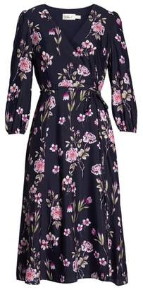 Eliza J Floral Print Wrap Dress