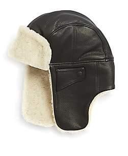 UGG Men's Shearling & Leather Trapper Hat
