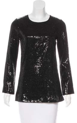 Tory Burch Sequin Long Sleeve Top
