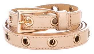 Prada Leather Grommet Belt