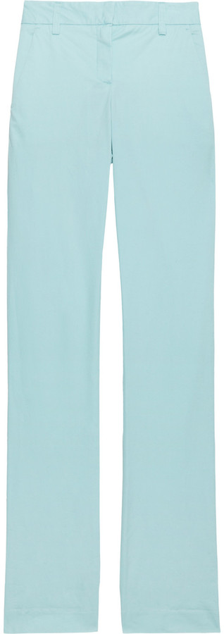 Theory Yanette cotton-blend pants