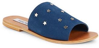 Steve Madden Denise Leather Slide Sandals $89 thestylecure.com