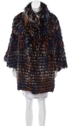 Gorski Knitted Fur Coat