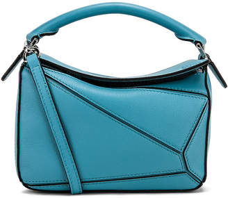 Loewe Puzzle Mini Bag in Light Blue   FWRD