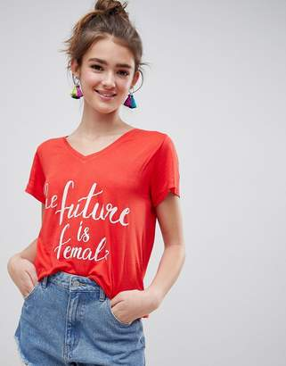 Blend She Caraz Future Is Female Print T-Shirt