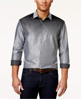 Alfani Men Ombre Striped Long-Sleeve Shirt