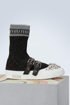 Miu Miu Jewel socks sneakers