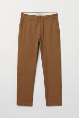 H&M Regular Fit Cotton Chinos - Beige