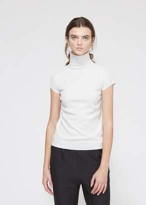 Issey Miyake Short Sleeve Mock Neck Top