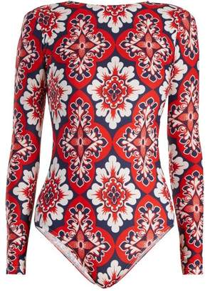 La DoubleJ Palazzo Rosso Paddle Suit - Womens - Red Multi