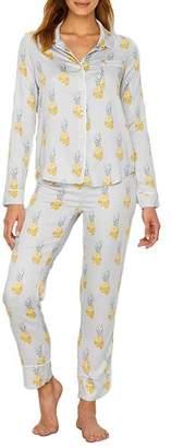 PJ Salvage Pineapple Sateen Pajama Set