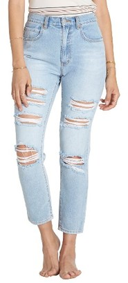Women's Billabong Ripped High Waist Crop Jeans $69.95 thestylecure.com