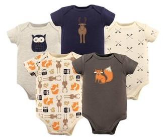 Hudson Baby Baby Boy Bodysuits, 5-pack