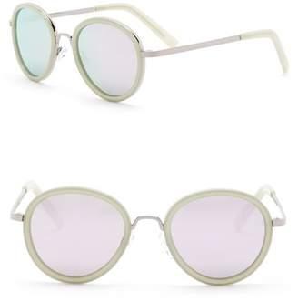 Joe's Jeans Polarized 49mm Round Sunglasses