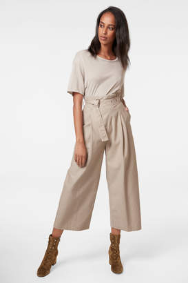 Via Pleat-Front Pant In Driftwood