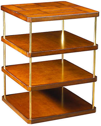 French Heritage Mondrian Square Side Table - Antiqued Cherry