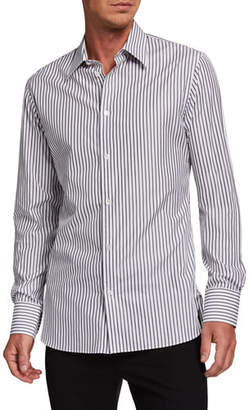 The Row Men's Jasper Striped Dress Shirt