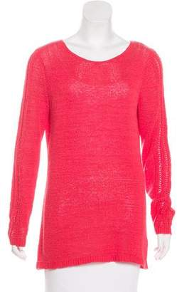 Rachel Zoe Open Knit Long Sleeve Top