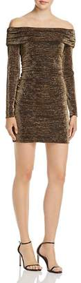 Rachel Zoe Blake Off-the-Shoulder Shimmer Mini Dress - 100% Exclusive