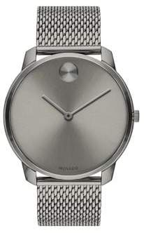 Movado BOLD Ionic-Plated Grey Stainless Steel Mesh Bracelet Watch