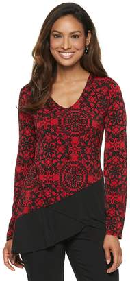 Dana Buchman Women's Travel Anywhere Print Asymmetrical-Hem Tunic