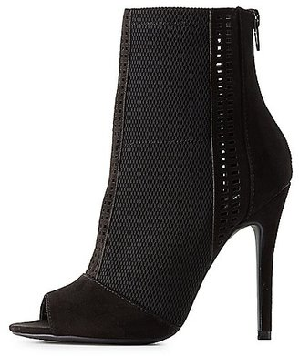 Qupid Laser Cut Peep Toe Booties $42.99 thestylecure.com