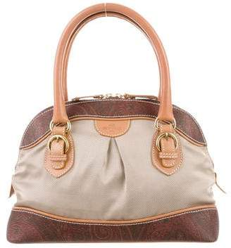 Etro Leather-Trimmed Handle Bag