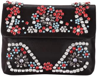 Adrianna Papell Shimmery Crossbody Bag with Rhinestones