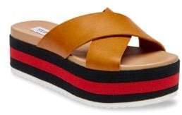 Steve Madden Asher Leather Flatform Sandals
