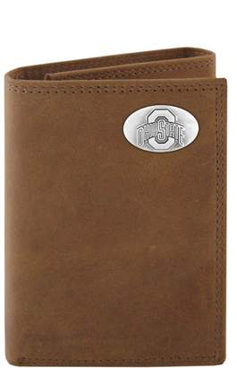 NCAA Kohl's Zep-Pro Ohio State Buckeyes Concho Crazy Horse Leather Trifold Wallet