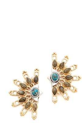 Lulu Frost Marjorelle Stud Earrings $238 thestylecure.com