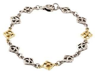 David Yurman Two-Tone Logo Link Bracelet