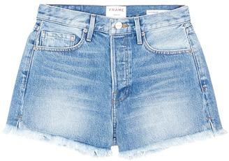 Frame 'Le Original' frayed denim shorts