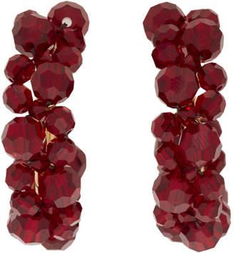 Simone Rocha Burgundy Small Wiggle Hoop Earrings