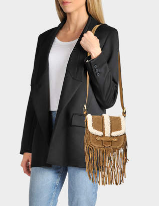 Vanessa Bruno Small Shearling Gemma crossbody with fringes
