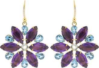 Bounkit JEWELRY Amethyst Quartz Earrings