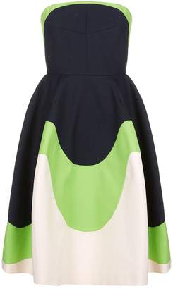 DELPOZO Colour Block Flared Dress