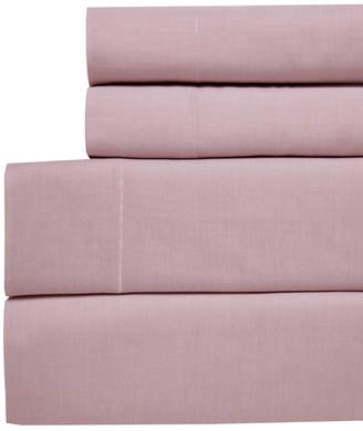 Westport Yarn Dyed Chambray King 4-pc Sheet Set, 200 Thread Count 100% Cotton Bedding