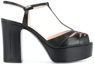 Fendi T-bar platform sandals
